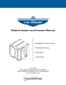 Walk-in Cooler and Freezer Manual