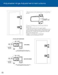 Adjustable Hinge Adjustment Instructions
