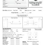 Printable Door Quote Form