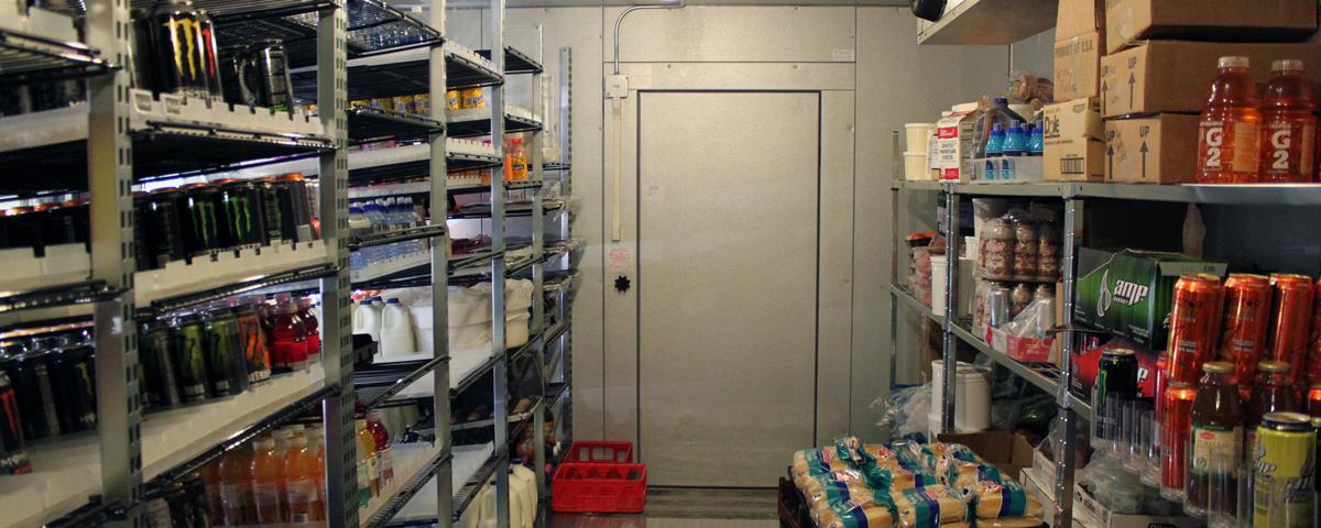 Commercial refrigerator.