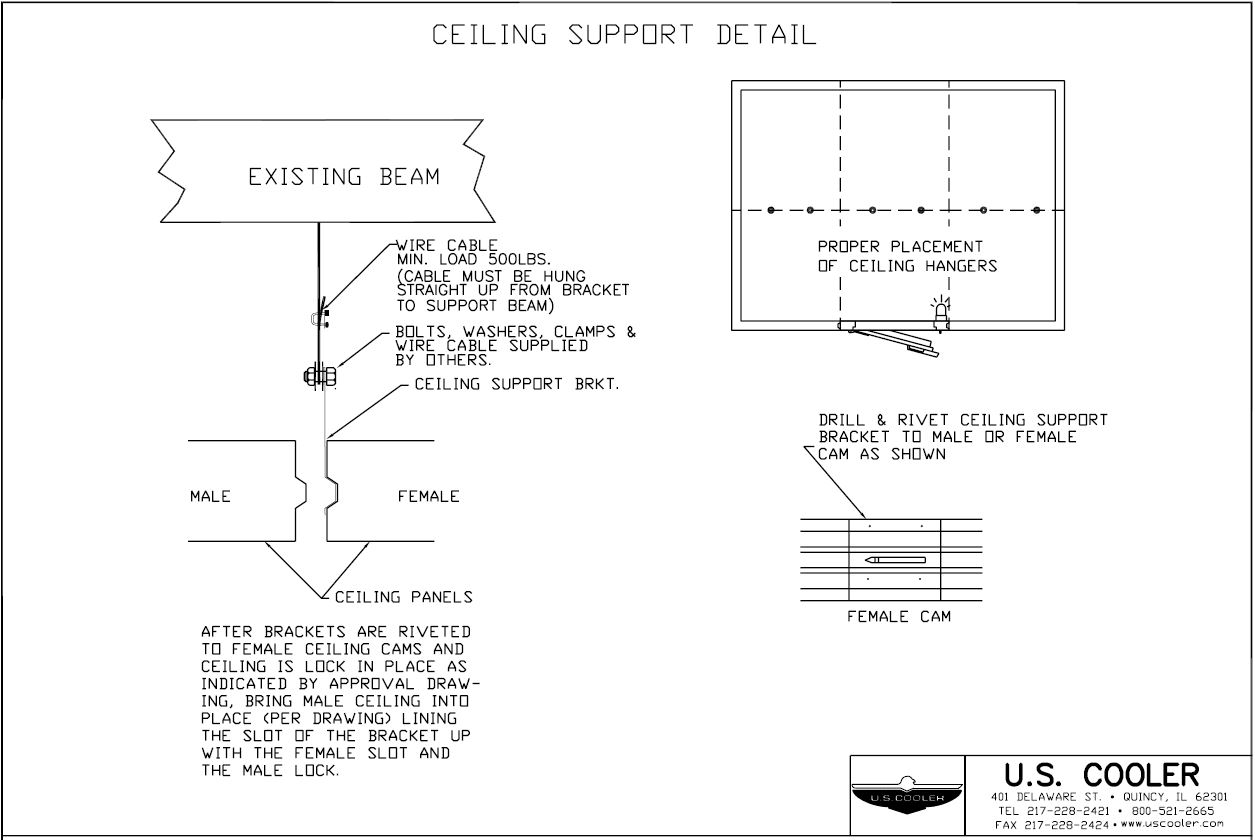 Ceiling Support Detail