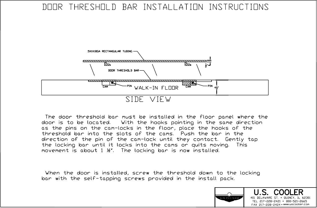 Door Threshold Bar Installation Instructions