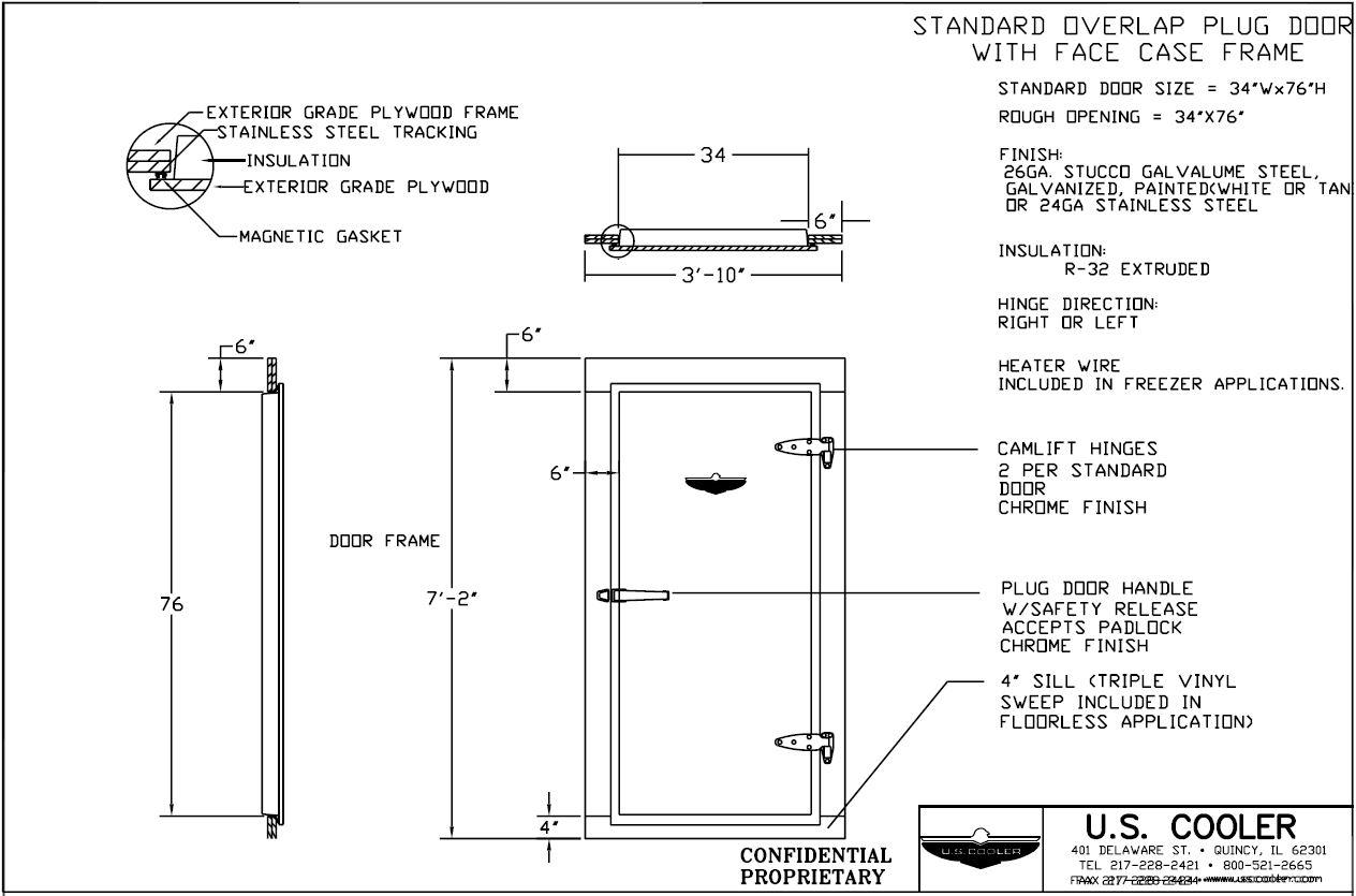 Standard Overlap Plug Door with Face Case Frame