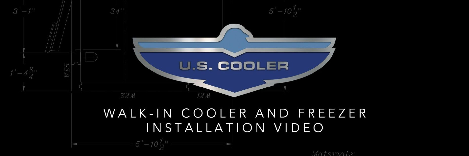 Walk-in cooler and freezer installation video.